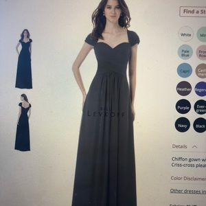 Gray floor length dress